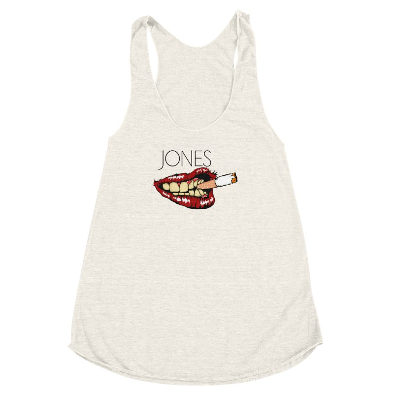 JONES DOPE LIPS Women's Racerback Triblend Tank by Mico Jones Artist Shop