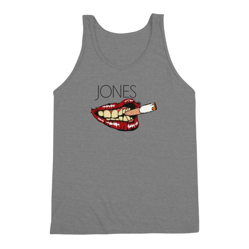 JONES DOPE LIPS Men's Triblend Tank by Mico Jones Artist Shop