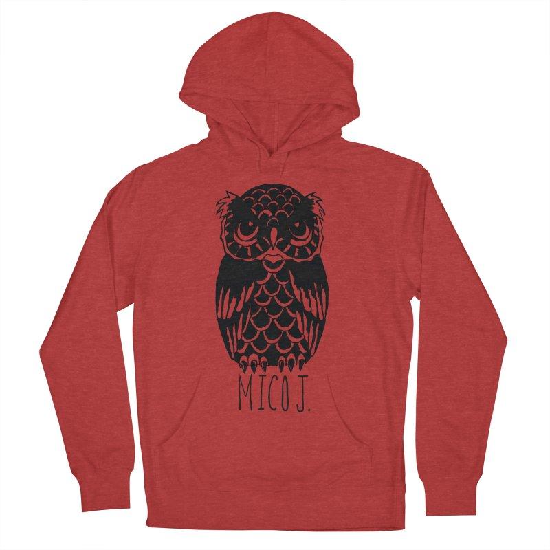 MICO OWL Women's Pullover Hoody by Mico Jones Artist Shop
