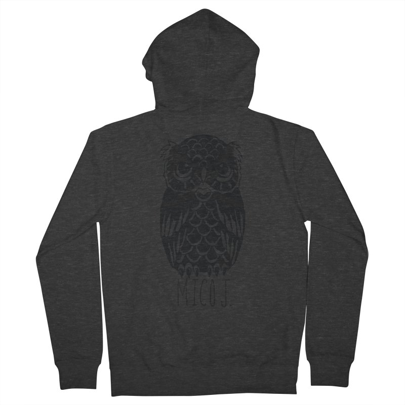 MICO OWL Men's Zip-Up Hoody by Mico Jones Artist Shop
