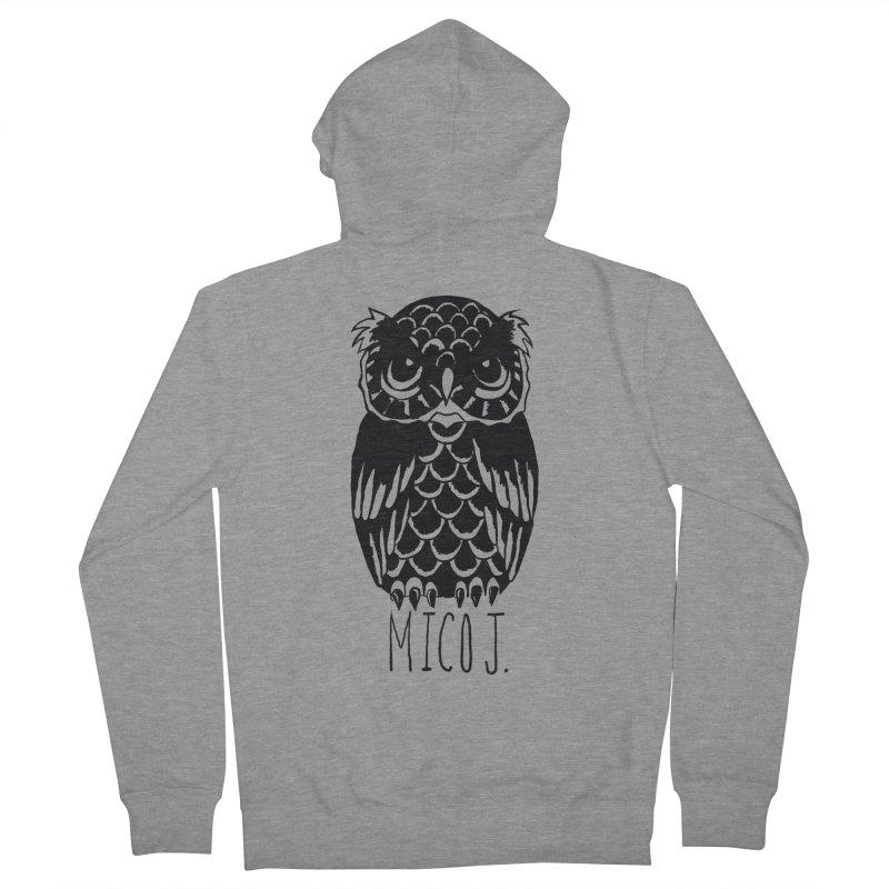 MICO OWL Men's Zip-Up Hoody by Mico Jones Artist Shop