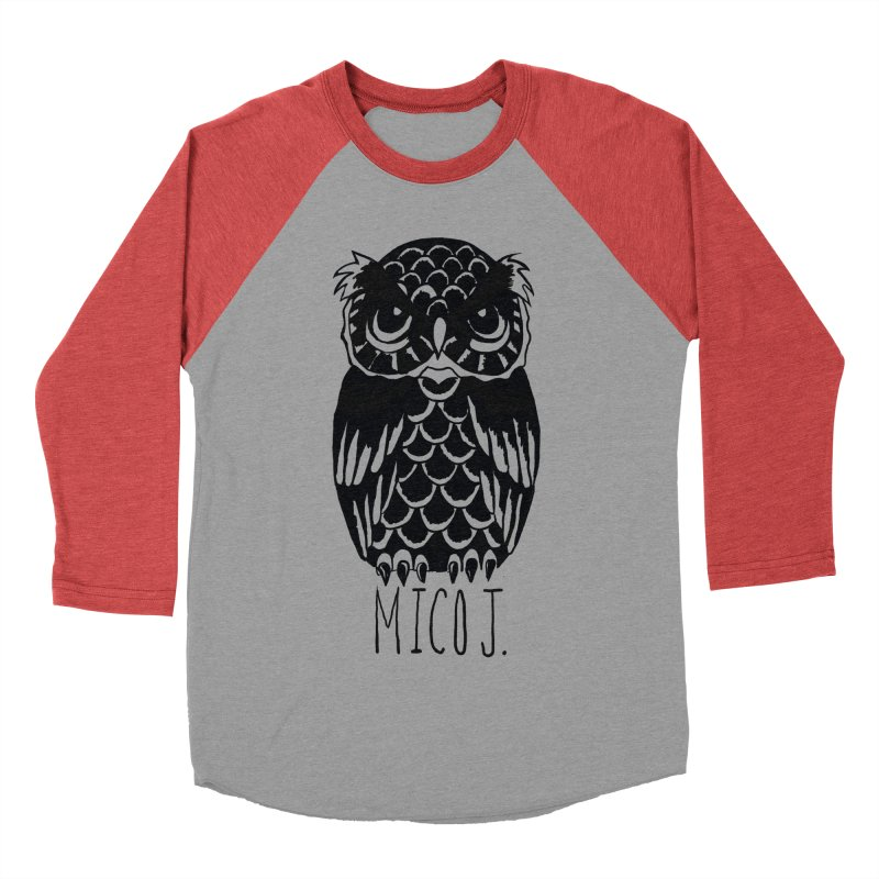 MICO OWL Women's Baseball Triblend T-Shirt by Mico Jones Artist Shop
