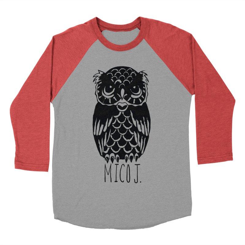 MICO OWL Men's Baseball Triblend T-Shirt by Mico Jones Artist Shop