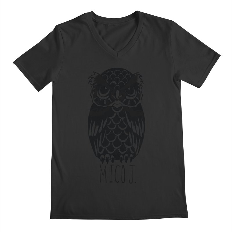 MICO OWL Men's V-Neck by Mico Jones Artist Shop