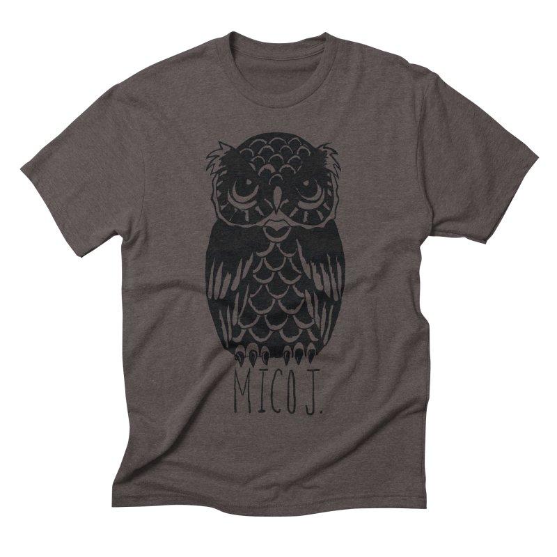 MICO OWL Men's Triblend T-shirt by Mico Jones Artist Shop
