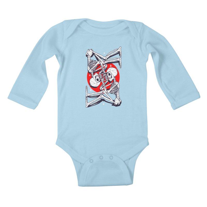 FIRE UP Kids Baby Longsleeve Bodysuit by Mico Jones Artist Shop