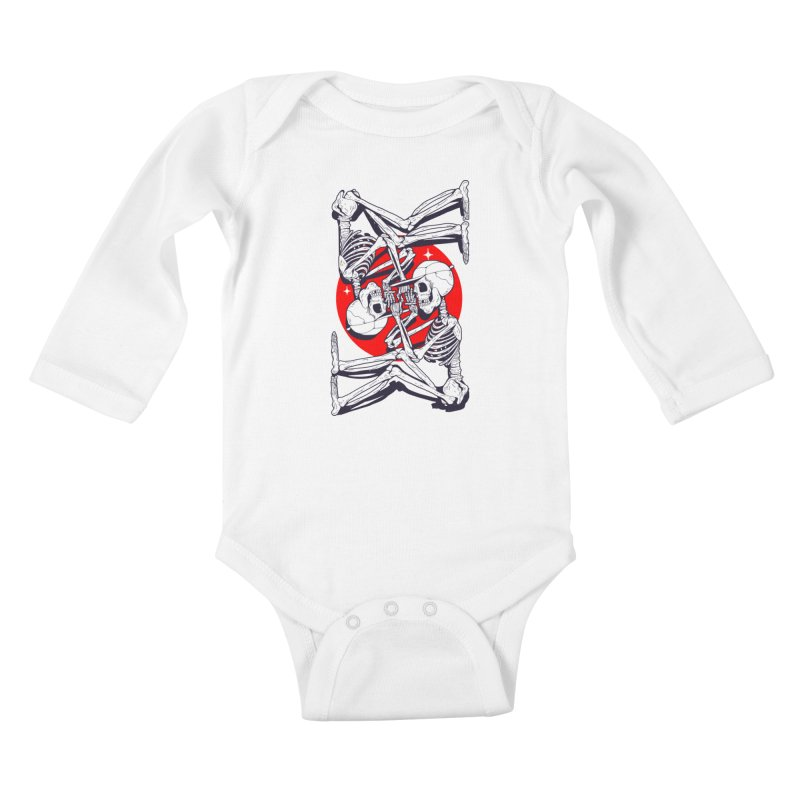 FIRE UP Kids Baby Longsleeve Bodysuit by Mico Jones Artist Shop