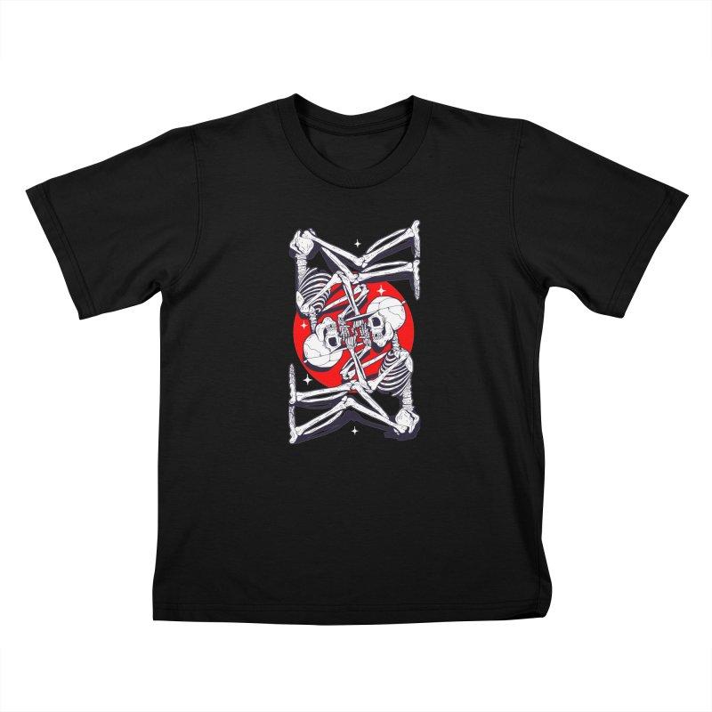 FIRE UP Kids T-Shirt by Mico Jones Artist Shop