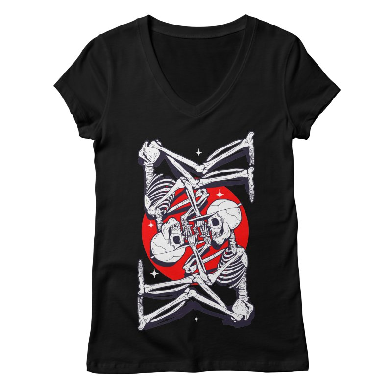FIRE UP Women's V-Neck by Mico Jones Artist Shop