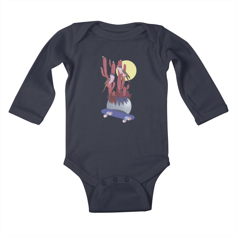 PRO CACTUS Kids Baby Longsleeve Bodysuit by Mico Jones Artist Shop
