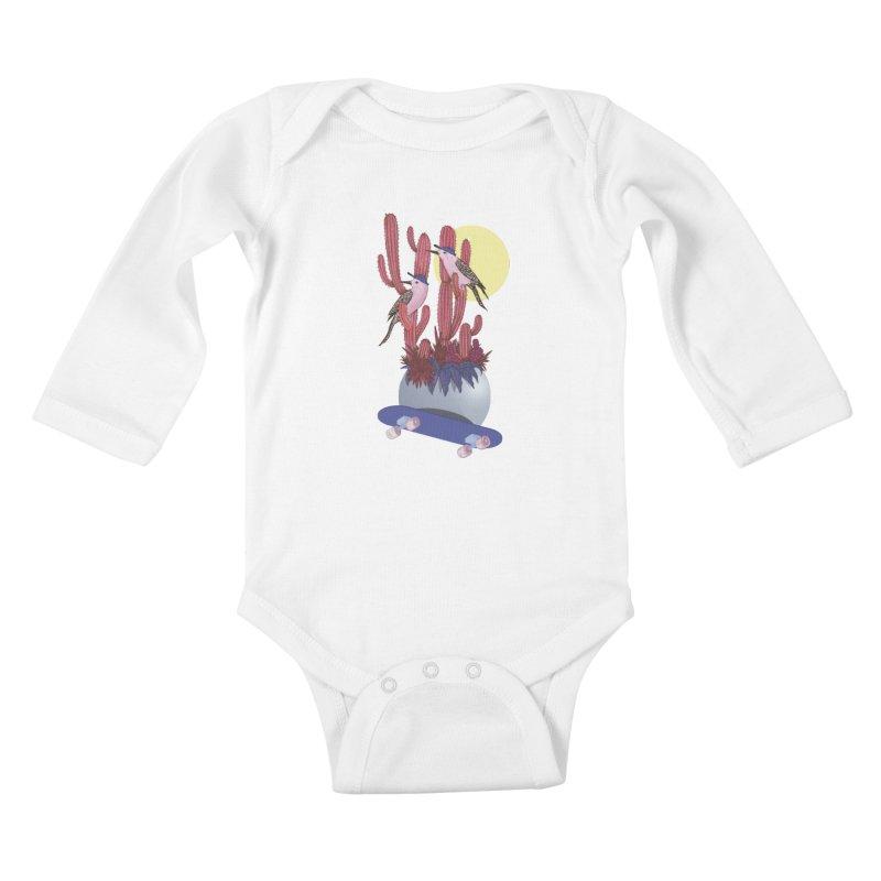 PRO CACTUS Kids Baby Longsleeve Bodysuit by Mico Jones Artist Shop