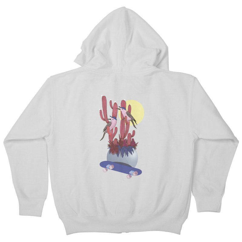 PRO CACTUS Kids Zip-Up Hoody by Mico Jones Artist Shop
