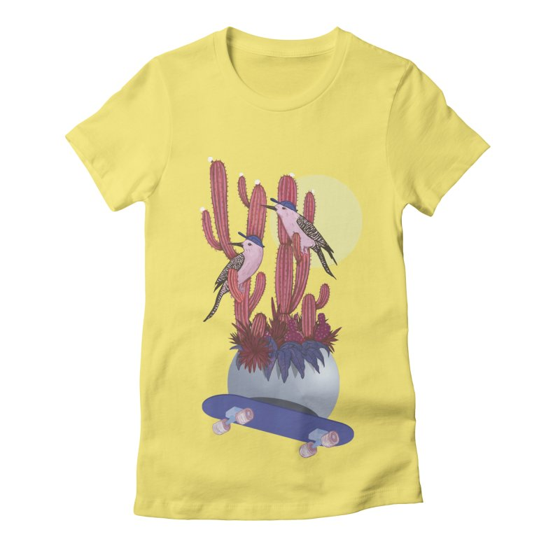 PRO CACTUS Women's Fitted T-Shirt by Mico Jones Artist Shop
