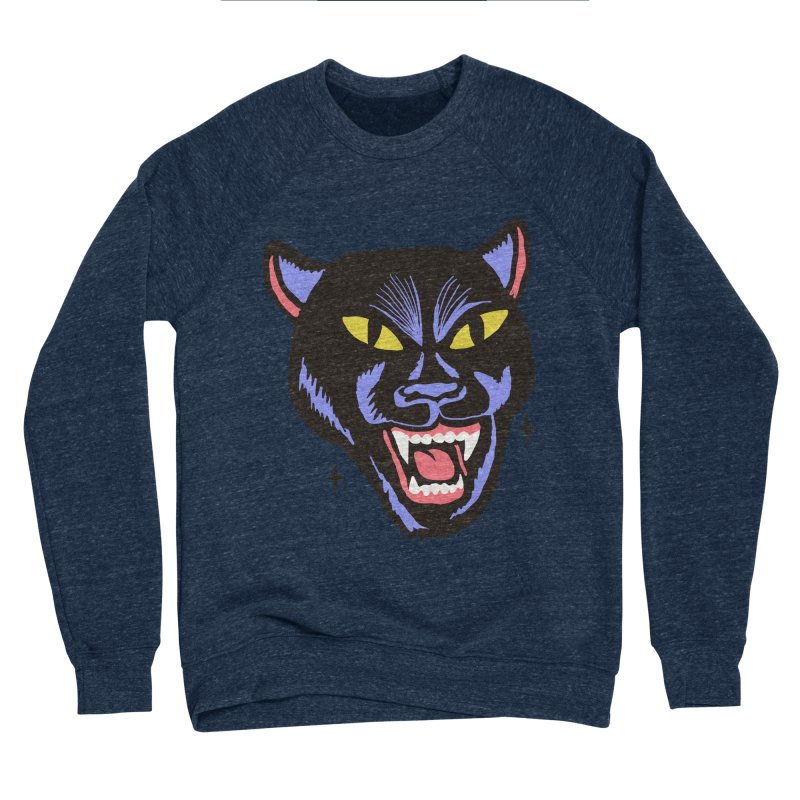 LCD PANTER Men's Sponge Fleece Sweatshirt by Mico Jones Artist Shop