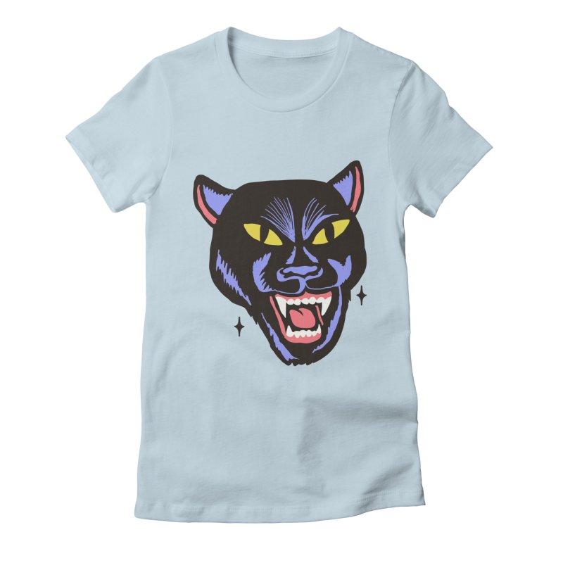 LCD PANTER Women's Fitted T-Shirt by Mico Jones Artist Shop