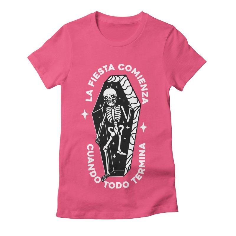 LA VIDA COMIENZA Women's Fitted T-Shirt by Mico Jones Artist Shop