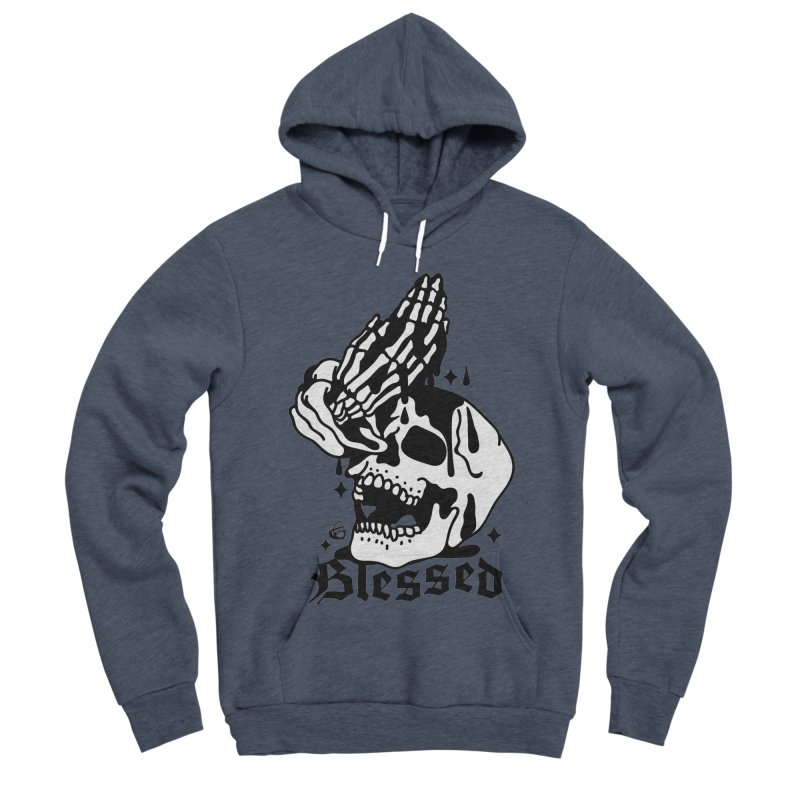 BLESSED Men's Sponge Fleece Pullover Hoody by Mico Jones Artist Shop