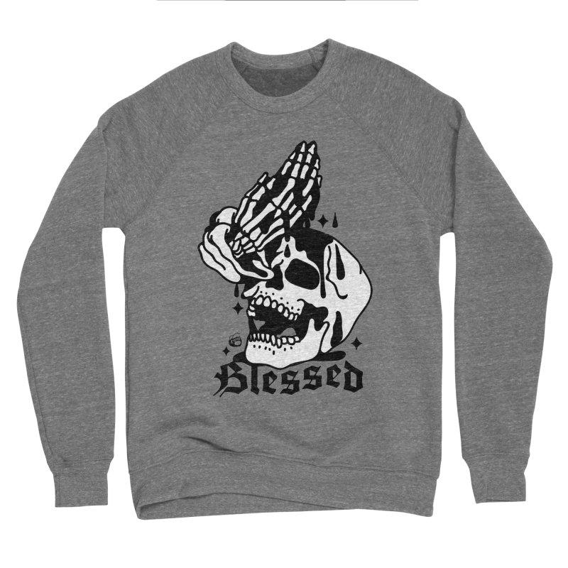 BLESSED Men's Sponge Fleece Sweatshirt by Mico Jones Artist Shop