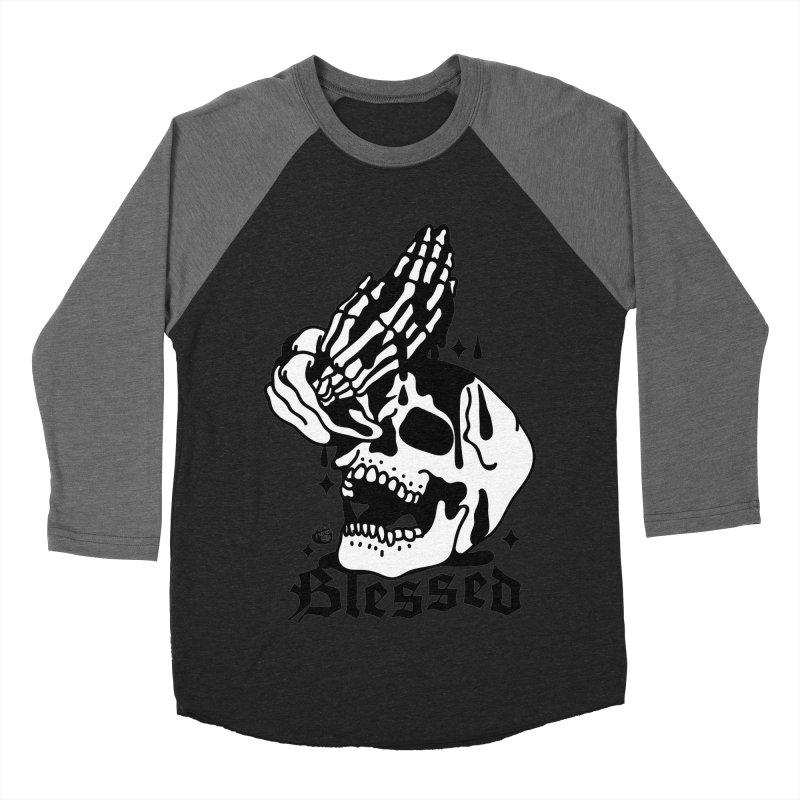 BLESSED Women's Baseball Triblend Longsleeve T-Shirt by Mico Jones Artist Shop
