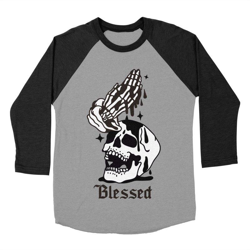 BLESSED Men's Baseball Triblend T-Shirt by Mico Jones Artist Shop