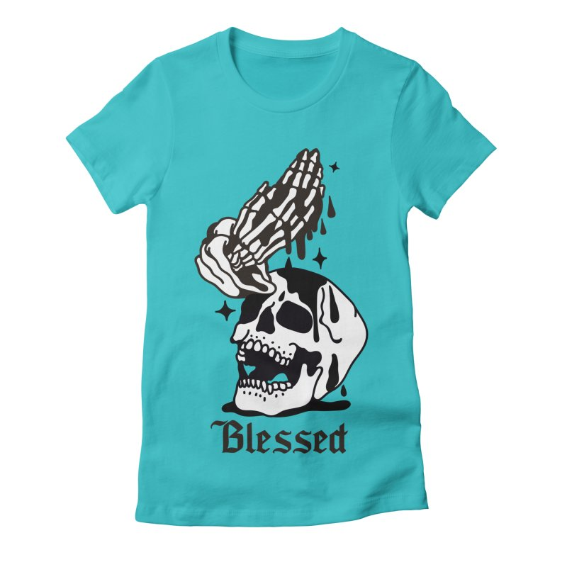 BLESSED Women's Fitted T-Shirt by Mico Jones Artist Shop