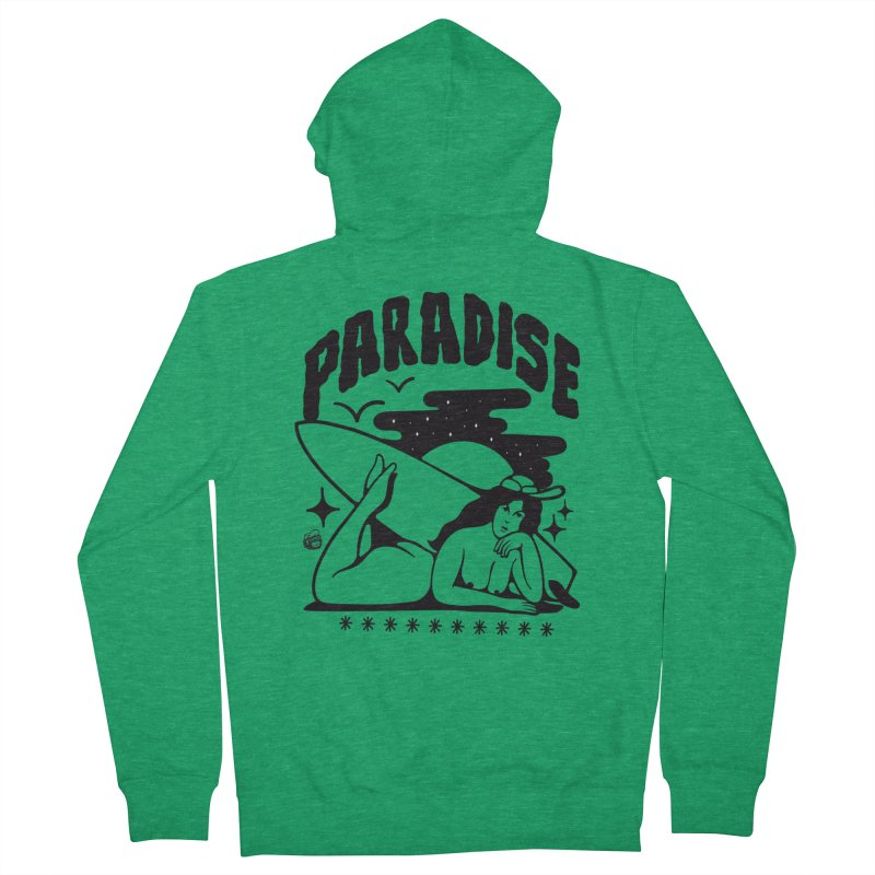 PARADISE Women's Zip-Up Hoody by Mico Jones Artist Shop