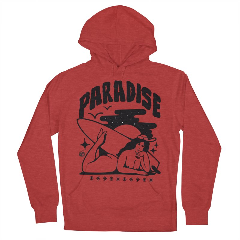 PARADISE Men's French Terry Pullover Hoody by Mico Jones Artist Shop