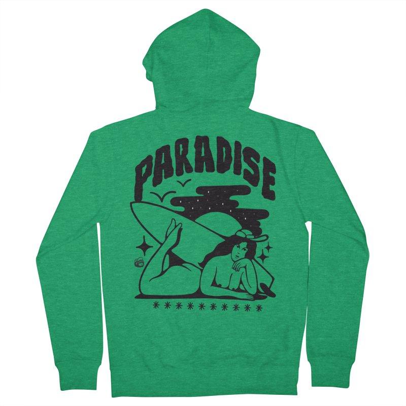 PARADISE Women's Zip-Up Hoody by Mico Jones Artist Shop
