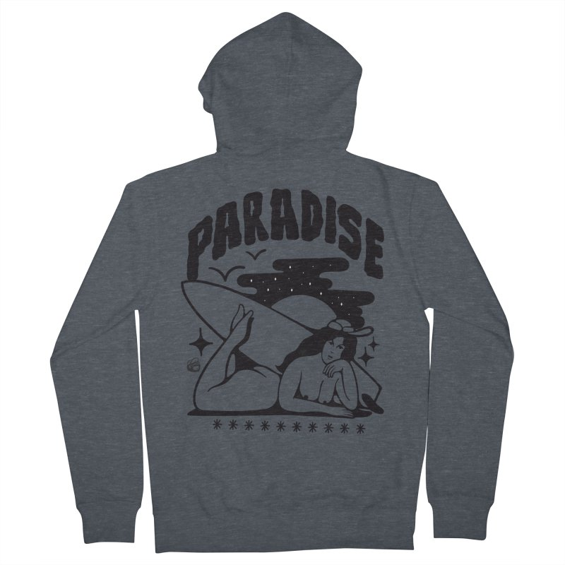 PARADISE Women's French Terry Zip-Up Hoody by Mico Jones Artist Shop