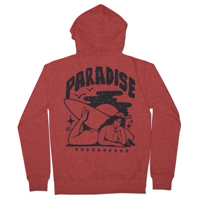 PARADISE Men's French Terry Zip-Up Hoody by Mico Jones Artist Shop