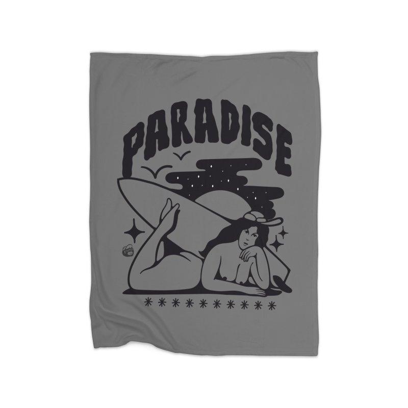 PARADISE Home Fleece Blanket Blanket by Mico Jones Artist Shop