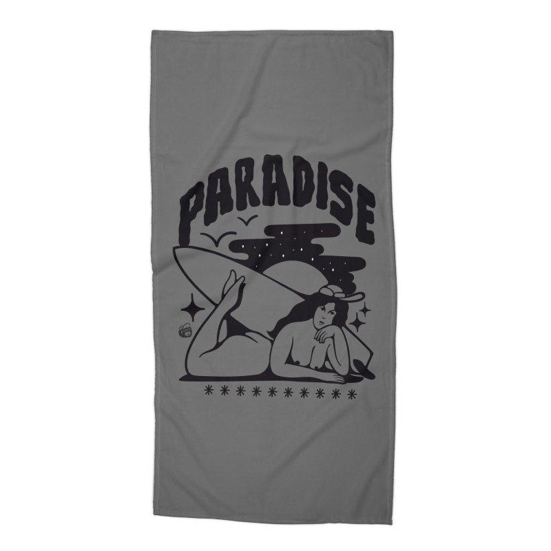 PARADISE Accessories Beach Towel by Mico Jones Artist Shop