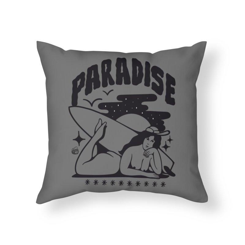 PARADISE Home Throw Pillow by Mico Jones Artist Shop