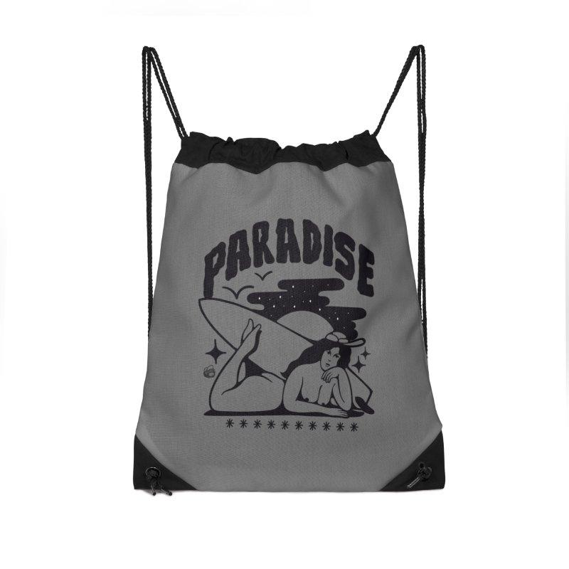 PARADISE Accessories Drawstring Bag Bag by Mico Jones Artist Shop