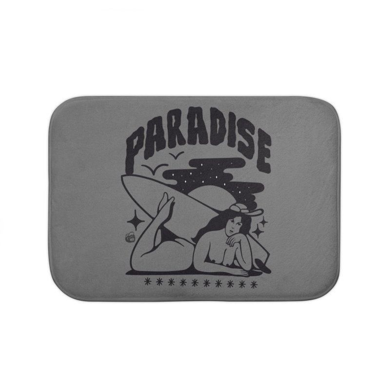 PARADISE Home Bath Mat by Mico Jones Artist Shop