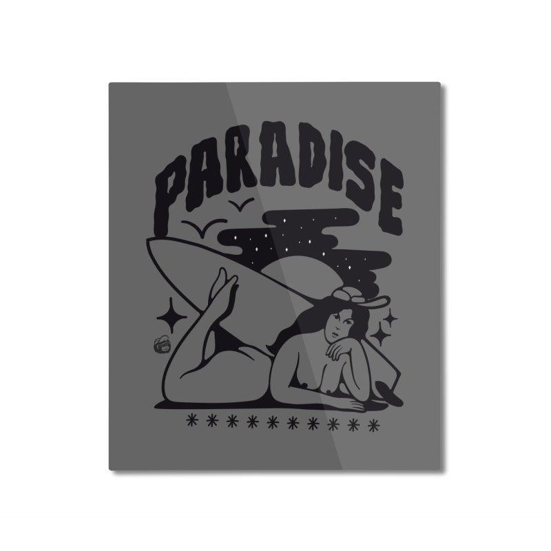 PARADISE Home Mounted Aluminum Print by Mico Jones Artist Shop