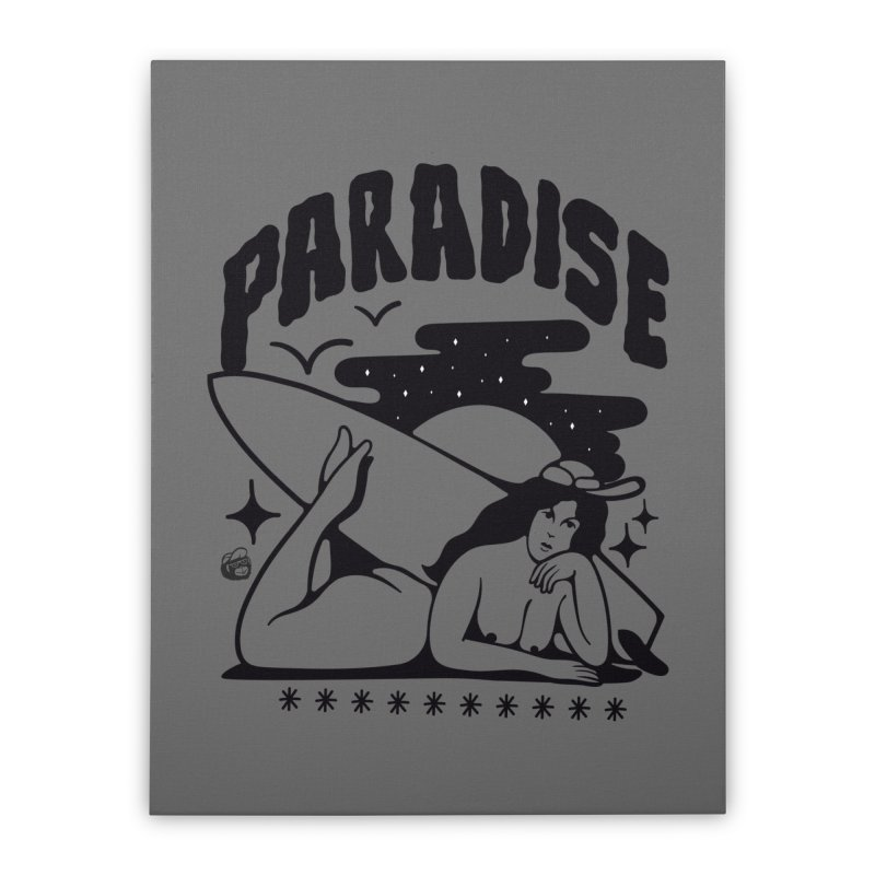 PARADISE Home Stretched Canvas by Mico Jones Artist Shop