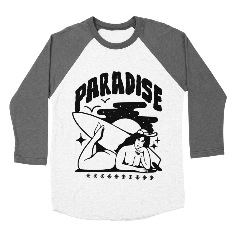 PARADISE Women's Baseball Triblend T-Shirt by Mico Jones Artist Shop