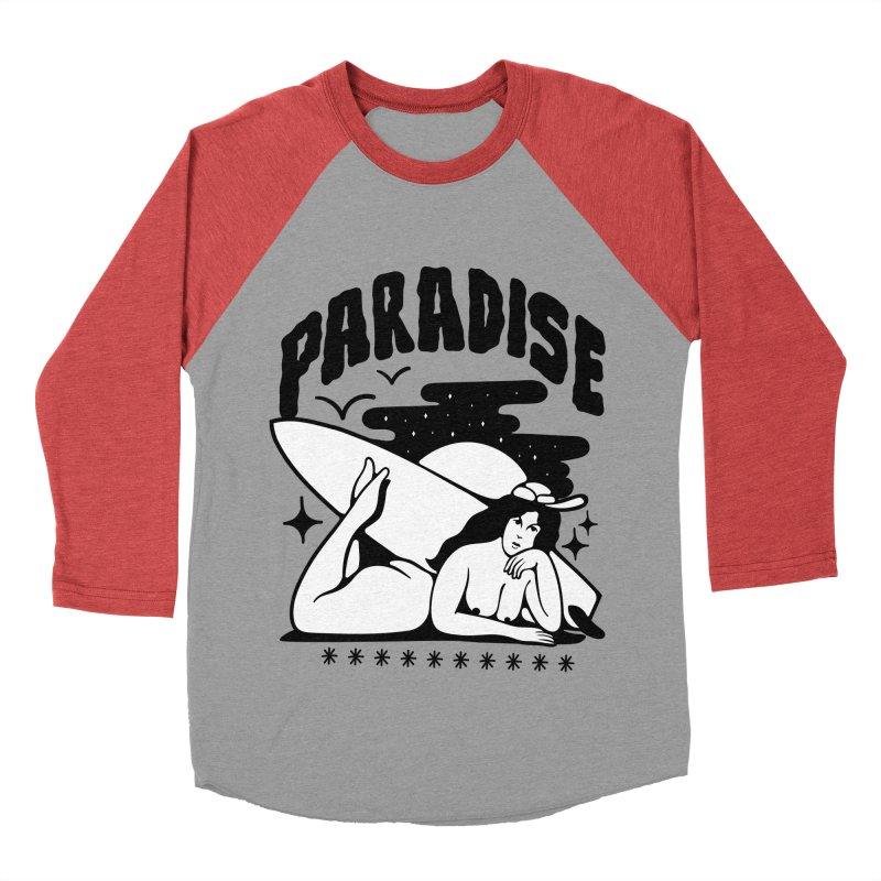 PARADISE Men's Baseball Triblend T-Shirt by Mico Jones Artist Shop
