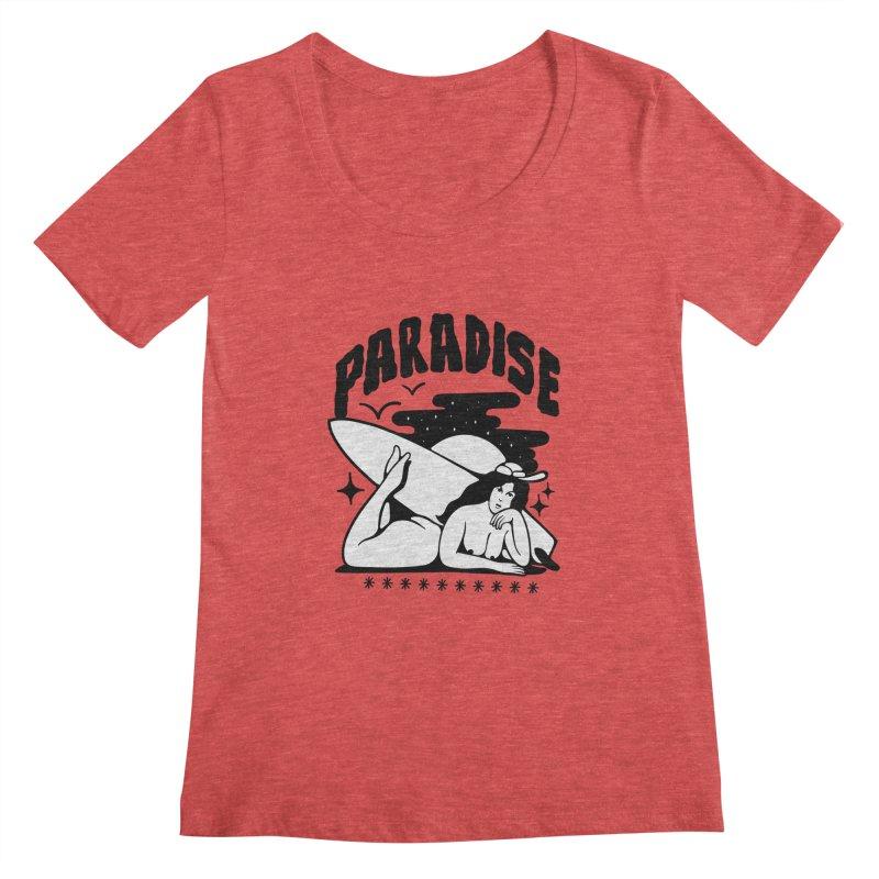 PARADISE Women's Scoopneck by Mico Jones Artist Shop