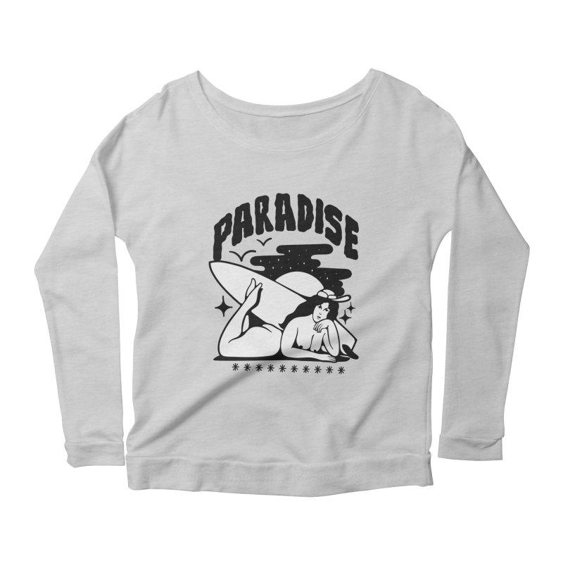 PARADISE Women's Longsleeve Scoopneck  by Mico Jones Artist Shop