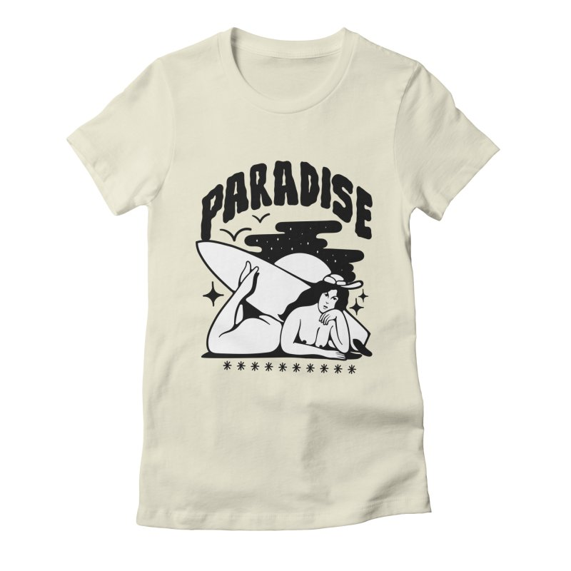PARADISE Women's Fitted T-Shirt by Mico Jones Artist Shop