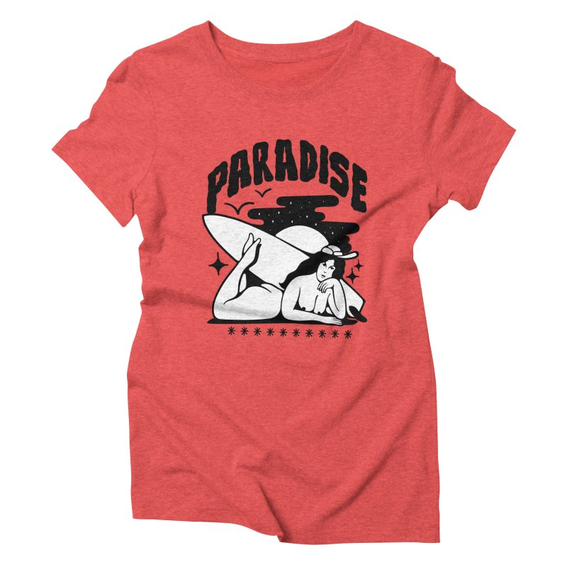 PARADISE Women's Triblend T-Shirt by Mico Jones Artist Shop