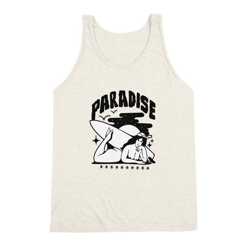 PARADISE Men's Triblend Tank by Mico Jones Artist Shop