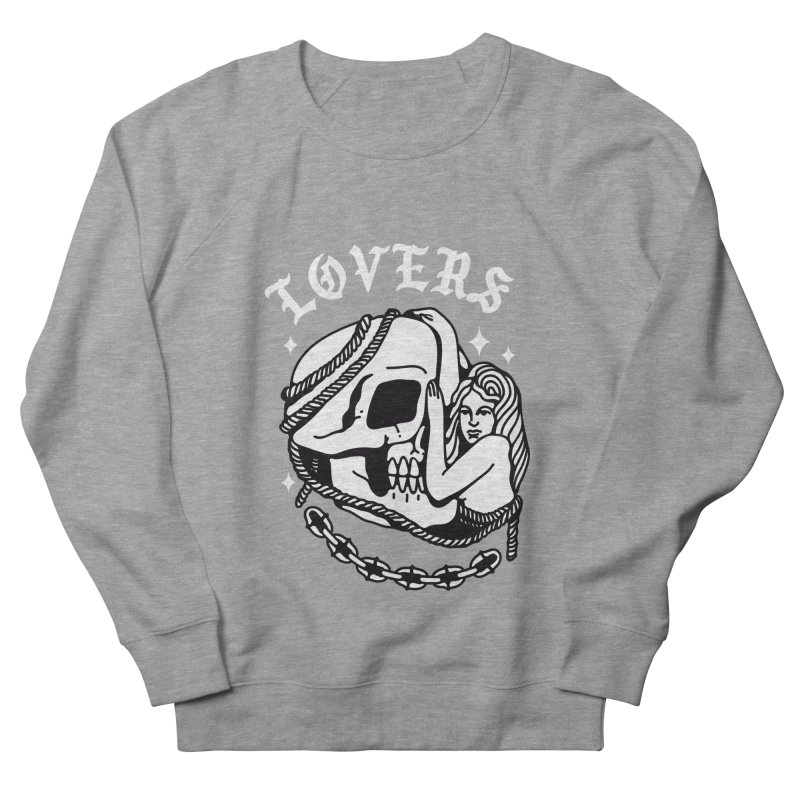 LOVE SKULL Men's Sweatshirt by Mico Jones Artist Shop