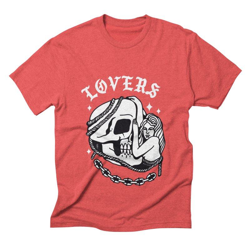 LOVE SKULL Men's Triblend T-shirt by Mico Jones Artist Shop