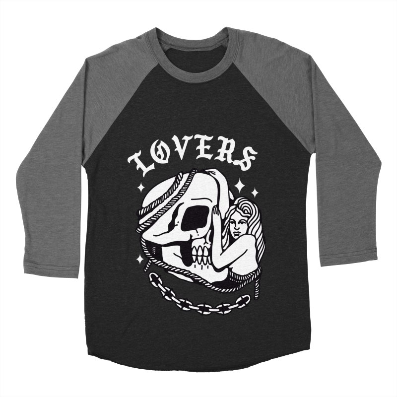 LOVE SKULL Women's Baseball Triblend T-Shirt by Mico Jones Artist Shop