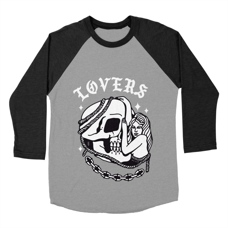 LOVE SKULL Women's Baseball Triblend Longsleeve T-Shirt by Mico Jones Artist Shop