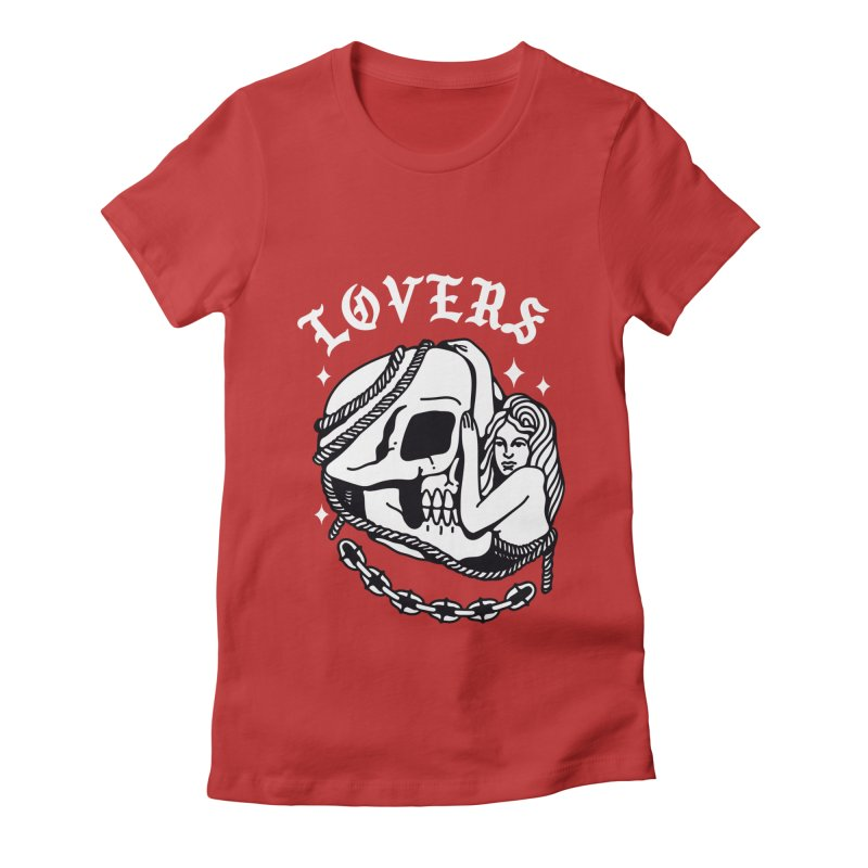 LOVE SKULL Women's Fitted T-Shirt by Mico Jones Artist Shop