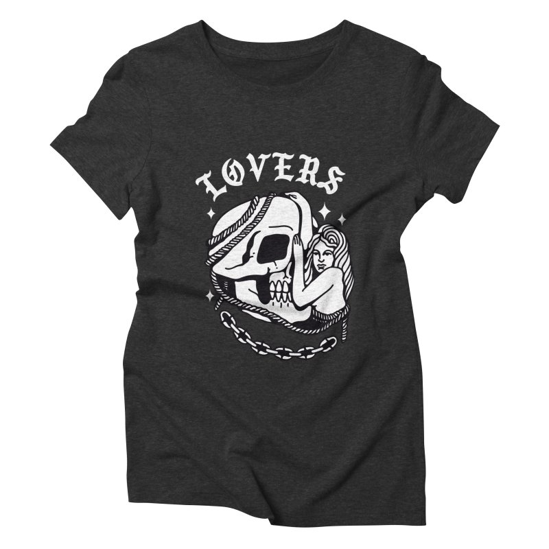 LOVE SKULL Women's Triblend T-Shirt by Mico Jones Artist Shop